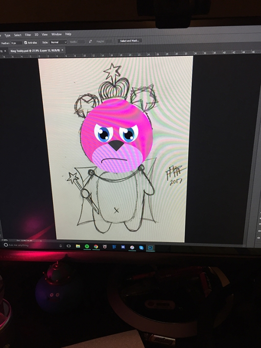 king-teddy-sketch-wip